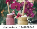 healthy smoothie drink made of... | Shutterstock . vector #1149078263