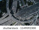 aerial view of highway and... | Shutterstock . vector #1149092300