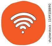 wi fi icon vector illustration... | Shutterstock .eps vector #1149108890