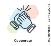 cooperate icon vector isolated... | Shutterstock .eps vector #1149110243