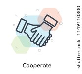 cooperate icon vector isolated... | Shutterstock .eps vector #1149110300