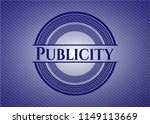 publicity emblem with jean high ... | Shutterstock .eps vector #1149113669