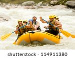 Group Of Mixed Tourist Man And...