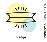 badge icon vector isolated on...