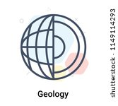 geology icon vector isolated on ... | Shutterstock .eps vector #1149114293