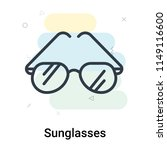 sunglasses icon vector isolated ... | Shutterstock .eps vector #1149116600