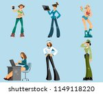 vector illustration of a set of ... | Shutterstock .eps vector #1149118220