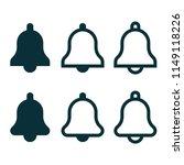 notification bell set | Shutterstock .eps vector #1149118226