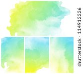 set of colorful abstract water... | Shutterstock . vector #114912226