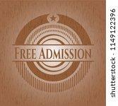 free admission wooden emblem.... | Shutterstock .eps vector #1149122396