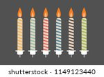 birthday candle with holder | Shutterstock .eps vector #1149123440
