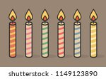 colorful birthday candles | Shutterstock .eps vector #1149123890