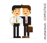 business couple standing... | Shutterstock .eps vector #1149127613