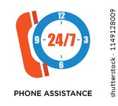 phone assistance icon vector... | Shutterstock .eps vector #1149128009