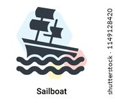 sailboat icon vector isolated... | Shutterstock .eps vector #1149128420