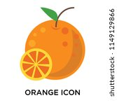 orange icon vector isolated on... | Shutterstock .eps vector #1149129866