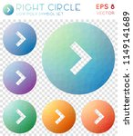 right circle geometric... | Shutterstock .eps vector #1149141689