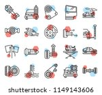 set of 20 icons such as tire ...   Shutterstock .eps vector #1149143606