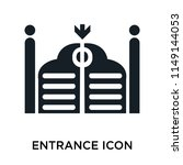 entrance icon vector isolated... | Shutterstock .eps vector #1149144053