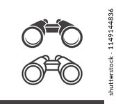 vector binoculars icon flat and ... | Shutterstock .eps vector #1149144836
