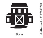 barn icon vector isolated on... | Shutterstock .eps vector #1149145220