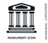 monument icon vector isolated... | Shutterstock .eps vector #1149147029
