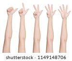set of hands gesturing numbers  ... | Shutterstock . vector #1149148706