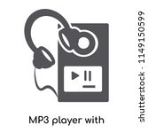 mp3 player with headphones icon ... | Shutterstock .eps vector #1149150599