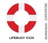 lifebuoy icon vector isolated...   Shutterstock .eps vector #1149154760