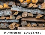 preparation of firewood for the ... | Shutterstock . vector #1149157553