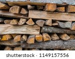 preparation of firewood for the ... | Shutterstock . vector #1149157556