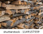preparation of firewood for the ... | Shutterstock . vector #1149157559