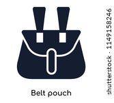 belt pouch icon vector isolated ... | Shutterstock .eps vector #1149158246