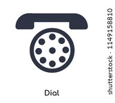 dial icon vector isolated on... | Shutterstock .eps vector #1149158810