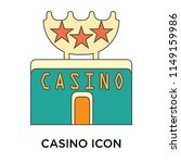 casino icon vector isolated on... | Shutterstock .eps vector #1149159986