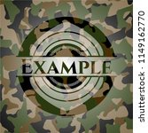 example on camouflage pattern | Shutterstock .eps vector #1149162770