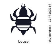 louse icon vector isolated on...   Shutterstock .eps vector #1149163169