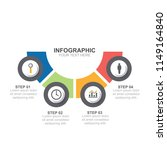 infographic template with... | Shutterstock .eps vector #1149164840