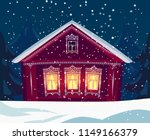russian wooden village house in ... | Shutterstock .eps vector #1149166379