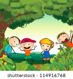 illustration of kids in a... | Shutterstock . vector #114916768