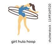 girl hula hoop vector vector... | Shutterstock .eps vector #1149169520