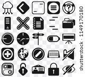 set of 25 icons such as hide ...