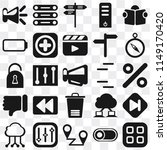 set of 25 icons such as menu ...
