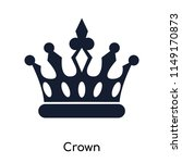 Crown Icon Vector Isolated On...