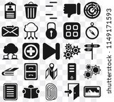 set of 25 icons such as photos  ...