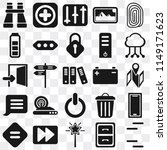 set of 25 icons such as lines ...