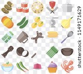 set of 25 icons such as octopus ...