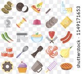 set of 25 icons such as pie ...
