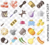 set of 25 icons such as hot dog ... | Shutterstock .eps vector #1149171659