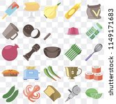 set of 25 icons such as lime ...